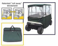 Deluxe 3-Sided Golf Buggie Enclosure